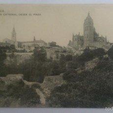 Postales: POSTAL SEGOVIA - LA CATEDRAL DESDE EL PINAR, CIRCULADA CON SELLO AÑO 1917, HAUSER Y MENET. Lote 57953471