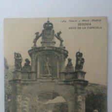 Postales: POSTAL SEGOVIA - ARCO DE LA FUENCISLA, CIRCULADA CON SELLO, HAUSER Y MENET 1464. Lote 57954087