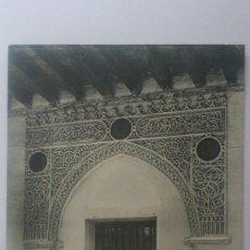 Postales: POSTAL SEGOVIA - SOBRE PUERTA DEL PALACIO DE ENRIQUE IV, ESCRITA. Lote 57955225