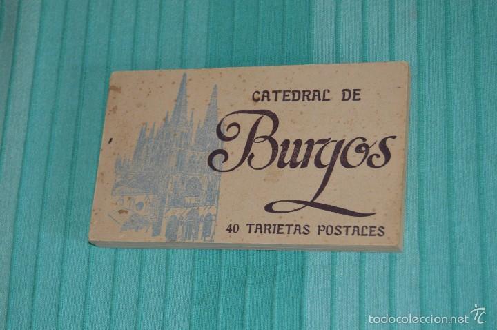 LIBRO CON 40 TARJETAS POSTALES - CATEDRAL DE BURGOS - HUECOGRABADO - HAUSER Y MENET. -MADRID (Postales - España - Castilla y León Moderna (desde 1940))