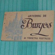 Postales: LIBRO CON 40 TARJETAS POSTALES - CATEDRAL DE BURGOS - HUECOGRABADO - HAUSER Y MENET. -MADRID. Lote 58362174