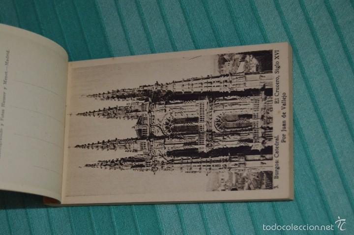 Postales: Libro con 40 Tarjetas POSTALES - Catedral de Burgos - Huecograbado - Hauser y Menet. -Madrid - Foto 3 - 58362174