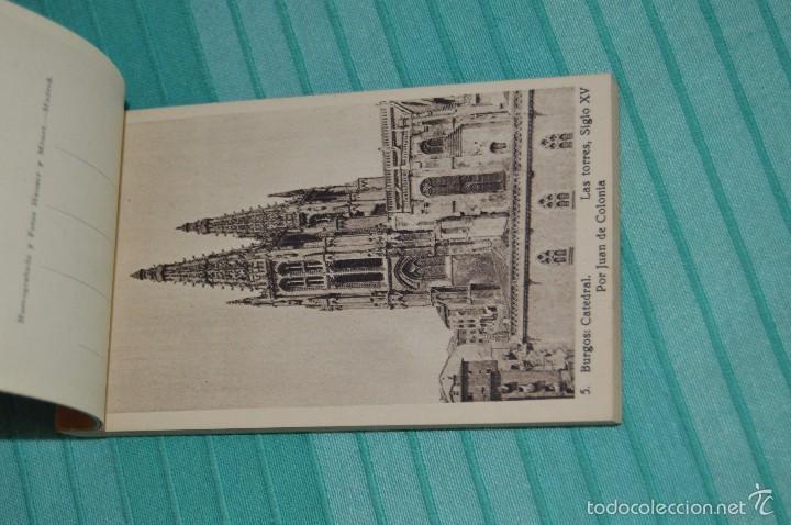 Postales: Libro con 40 Tarjetas POSTALES - Catedral de Burgos - Huecograbado - Hauser y Menet. -Madrid - Foto 5 - 58362174