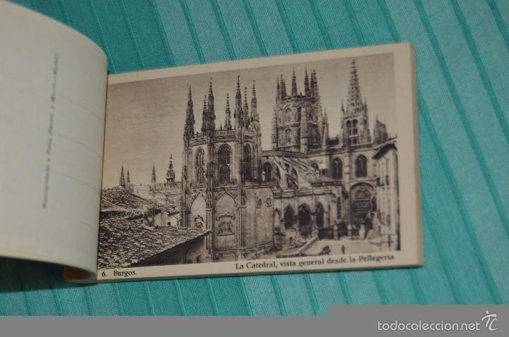 Postales: Libro con 40 Tarjetas POSTALES - Catedral de Burgos - Huecograbado - Hauser y Menet. -Madrid - Foto 6 - 58362174