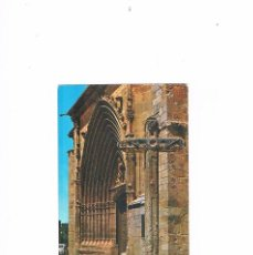 Postales: POSTAL ANTIGUA BURGOS CIRCULADA ARANDA DE DUERO FACHADA DE LA PARROQUIA DE SAN JUAN. Lote 58703443
