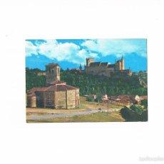 Postales: POSTAL ANTIGUA SEGOVIA SIN CIRCULAR IGLESIA DE LOS TEMPLARIOS Y EL ALCAZAR. Lote 58704116