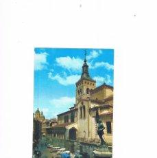 Postales: POSTAL ANTIGUA SEGOVIA SIN CIRCULAR MONUMENTO A JUAN BRAVO E IGLESIA DE SAN MARTIN. Lote 58704205