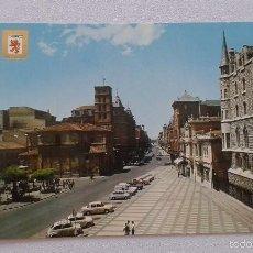 Cartes Postales: CASTILLA LEÓN -- LEÓN -- VISTA PARCIAL DE LA PLAZA DE SAN MARCELO CON LA C/ ORDOÑO II AL FONDO -- . Lote 58928140