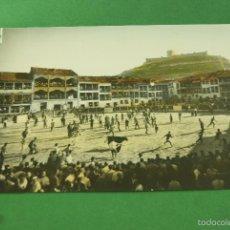 Postales: RARA POSTAL PEÑAFIEL COLOREADA 1961PLAZA DEL COSO TOROS. Lote 59599411