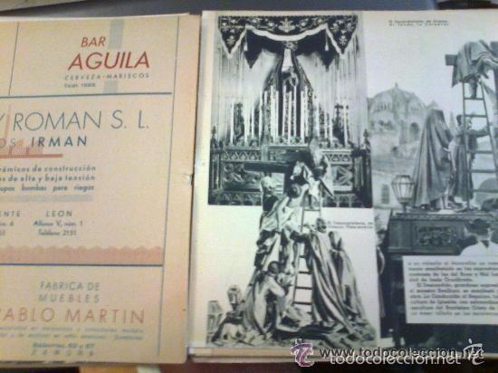 Postales: Zamora y su Semana Santa. Editor Jacinto Gonzalez. 50 hojas. Muchas imágenes y publicidad. - Foto 3 - 60269135