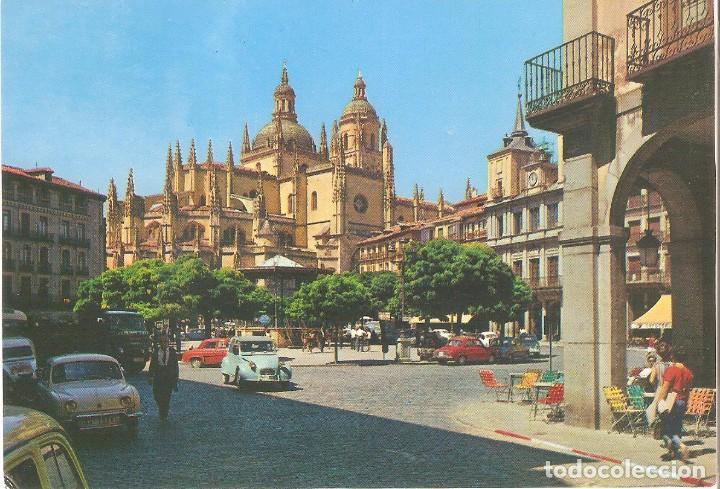 SEGOVIA, PLAZA DEL GENERAL FRANCO, GARCIA GARRABELLA, SIN CIRCULAR (Postales - España - Castilla y León Moderna (desde 1940))