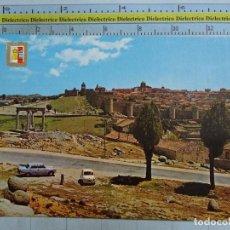 Postales: POSTAL DE ÁVILA. AÑO 1963. VISTA PARCIAL. SEAT 600. 246. Lote 61775592