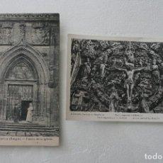 Postales: 2 ANTIGUAS POSTALES BLANCO Y NEGRO CIRCULADAS DE BURGOS LA CARTUJA AÑOS 60 - POSTAL ANTIGUA . Lote 61867584