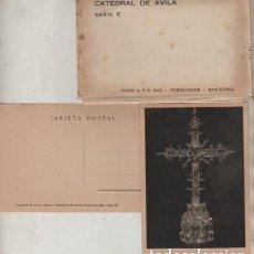 Postales: SOBRE CON 10 POSTALES DE AVILA SERIE E FOTOS A.Y.R. MAS HUECO-COLOR. Lote 64461327