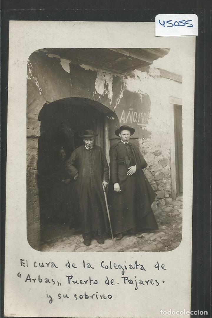 VILLAMANIN- PUERTO DE PAJARES -COLEGIATA DE ARBAS- EL CURA -FOTOGRAFICA -VER REVERSO-(ZG-45.055) (Postales - España - Castilla y León Antigua (hasta 1939))