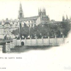 Postales: BURGOS 197 PUERTA DE SANTA MARIA HAUSER Y MENET S.C.. Lote 65826510
