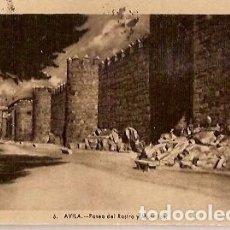 Postales: ANTIGUA POSTAL 6 AVILA PASEO DEL RASTRO Y MURALLAS HELIO TIPIA ARTISTICA. Lote 66492762