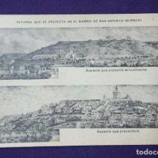 Postales: POSTAL DE BURGOS. REFORMA QUE SE PROYECTA EN EL BARRIO DE SAN ESTEBAN. ASPECTO ACTUAL Y FUTURO. 1910. Lote 67020258