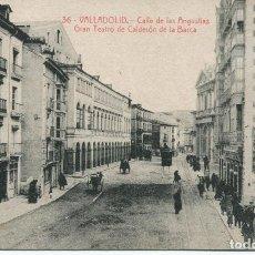 Postales: VALLADOLID-CALLE DE LAS ANGUSTIAS-TEATRO CALDERÓN DE LA BARCA- 1920. Lote 67072678