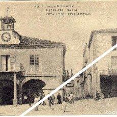 Postales: MAGNIFICA POSTAL - PIEDRAHITA (AVILA) - DETALLE DE LA PLAZA MAYOR - AMBIENTADA. Lote 35207964