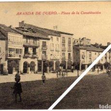 Postales: MAGNIFICA POSTAL - ARANDA DE DUERO (BURGOS) - PLAZA DE LA CONSTITUCION - AMBIENTADA. Lote 49714975
