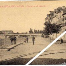 Postales: MAGNIFICA POSTAL - ARANDA DE DUERO (BURGOS) - CARRETERA DE MADRID - AMBIENTADA. Lote 49715024