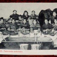 Postales: CANDELARIO, FABRICANDO EMBUTIDOS, FOTO REQUENA, SIN CIRCULAR. Lote 67484805