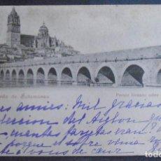 Postales: (48502)POSTAL ESCRITA,PUENTE ROMANO SOBRE EL RÍO TORMES,SALAMANCA,SALAMANCA,CASTILLA Y LEON,DORSO SI. Lote 67717793
