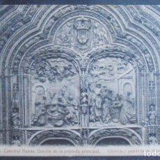 Cartoline: (48568)POSTAL ESCRITA,DETALLE DE LA PORTADA PRINCIPAL DE LA CATEDRAL,SALAMANCA,SALAMANCA,CASTILLA Y . Lote 67725601