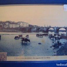 Postales: (PS-50442)POSTAL DE MIRANDA DE EBRO-UN ASPECTO DEL RIO EBRO.LAVANDERAS. Lote 68134505