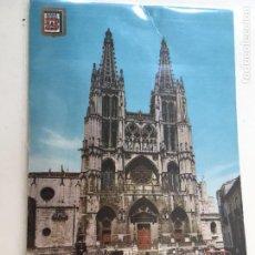 Postales: POSTAL BURGOS CATEDRAL Y PLAZA DE SANTA MARIA CURSADA -1965. Lote 71814799