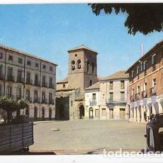Postales: PALENCIA CARRION DE LOS CONDES PLAZA MAYOR, AL FONDO IGLESIA DE SANTIAGO. ED. INTER 5. SIN CIRCULAR. Lote 72899699