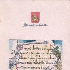 Postales: POSTAL MILENARIO DE CASTILLA - FOURNIER. Lote 73462559