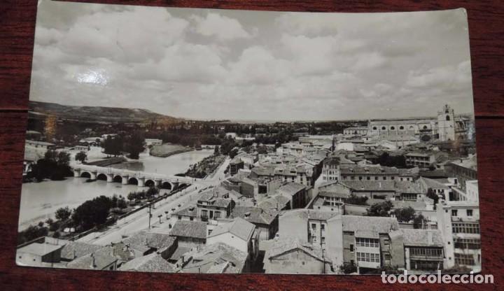 FOTO POSTAL DE PALENCIA, VISTA GENERAL, ED. SICILIA Nº 2, CIRCULADA (Postales - España - Castilla y León Antigua (hasta 1939))