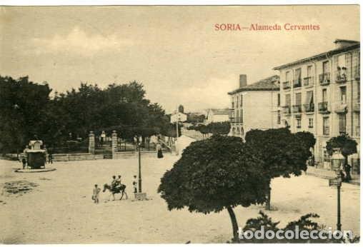 SORIA. ALAMEDA CERVANTES. S/Nº. FOTOTIPIA. EDICION LAS HERAS. SIN ESCRIBIR. (Postales - España - Castilla y León Antigua (hasta 1939))