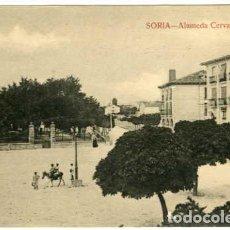 Postales: SORIA. ALAMEDA CERVANTES. S/Nº. FOTOTIPIA. EDICION LAS HERAS. SIN ESCRIBIR.. Lote 74629571