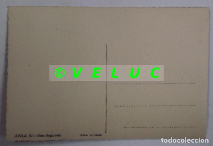 Postales: AVILA: SAN SEGUNDO. ED. ARRIBAS Nº 51. AÑOS 50. SIN CIRCULAR - Foto 2 - 37589927