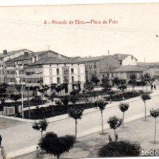 Postales: PS7306 MIRANDA DE EBRO 'PLAZA DE PRIM'. M. PERALTA. SIN CIRCULAR. PRINC. S. XX. Lote 74929115