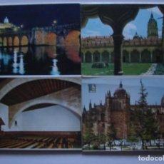 Postales: LOTE DE 2 TIRAS CON 18 POSTALES DE SALAMANCA. CERVANTES. . Lote 76381247