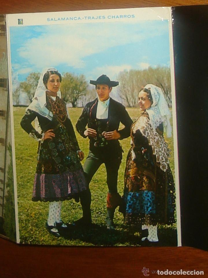 Postales: Lote de 2 tiras con 18 postales de Salamanca. Cervantes. - Foto 2 - 76381247