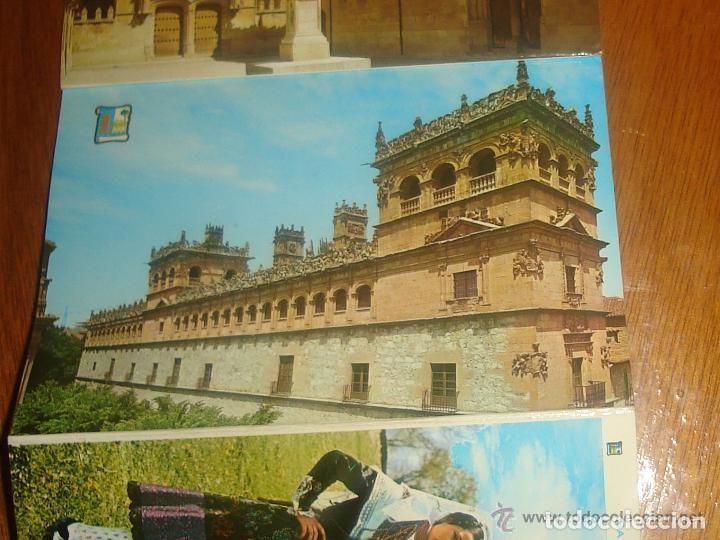 Postales: Lote de 2 tiras con 18 postales de Salamanca. Cervantes. - Foto 4 - 76381247