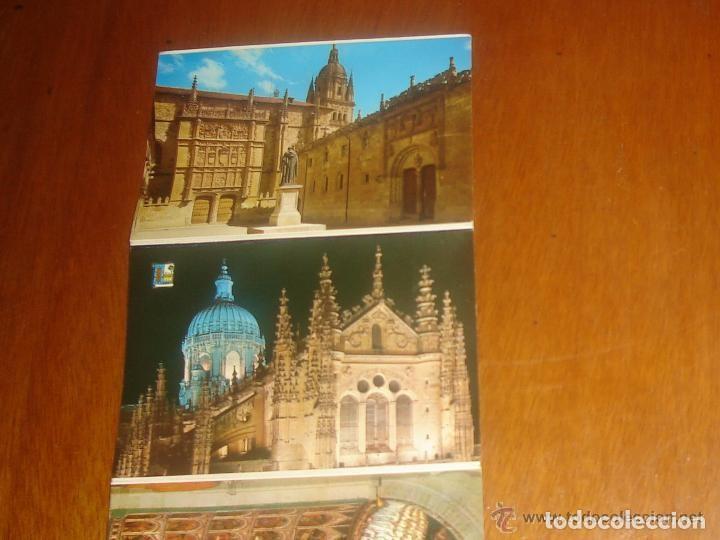 Postales: Lote de 2 tiras con 18 postales de Salamanca. Cervantes. - Foto 8 - 76381247