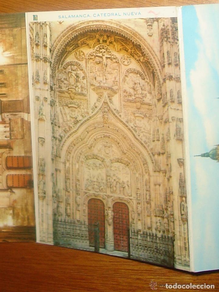 Postales: Lote de 2 tiras con 18 postales de Salamanca. Cervantes. - Foto 10 - 76381247