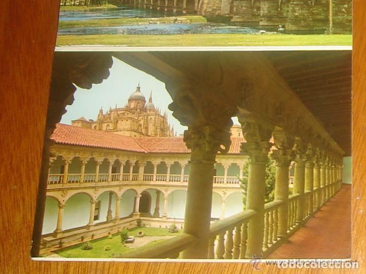 Postales: Lote de 2 tiras con 18 postales de Salamanca. Cervantes. - Foto 11 - 76381247