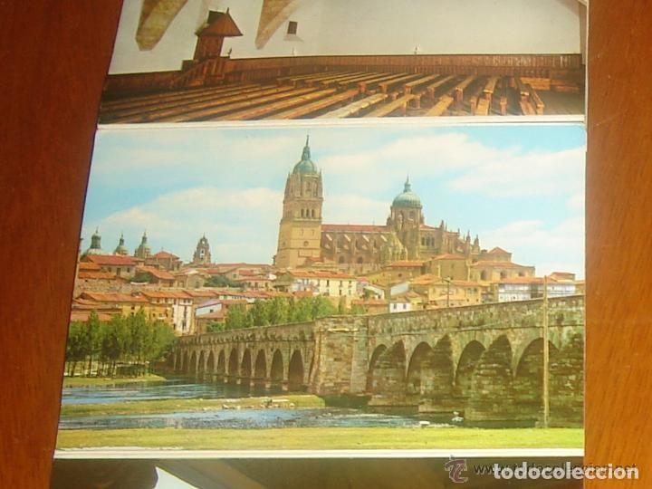 Postales: Lote de 2 tiras con 18 postales de Salamanca. Cervantes. - Foto 12 - 76381247