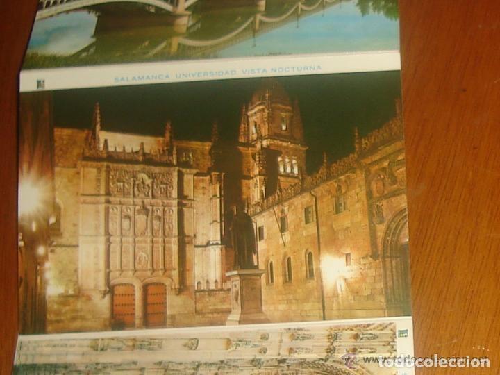 Postales: Lote de 2 tiras con 18 postales de Salamanca. Cervantes. - Foto 13 - 76381247