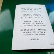 Postales: POSTAL DE LAS CONFITERÍAS ISELMA, DE ÁVILA. Lote 76773257