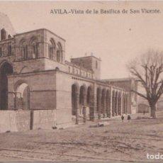 Postales: AVILA - VISTA DE LA BASILICA DE SAN VICENTE. Lote 78475789