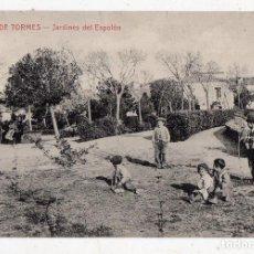 Postales: ALBA DE TORMES. JARDINES DE EL ESPOLÓN. NIÑOS JUGANDO.. Lote 78643297