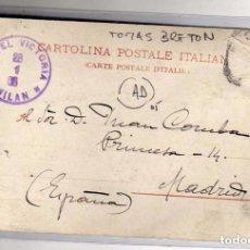 Cartes Postales: TOMÁS BRETÓN AUTÓGRAFO, COMPOSITOR Y VIOLINISTA NACIDO EN SALAMANCA. HOTEL VICTORIA. MILAN.. Lote 78825065